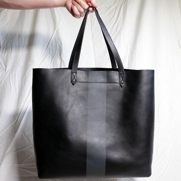 Madewell Handbags - Madewell Paint Stripe Transport Leather Tote Bag 341b3b7ee1175